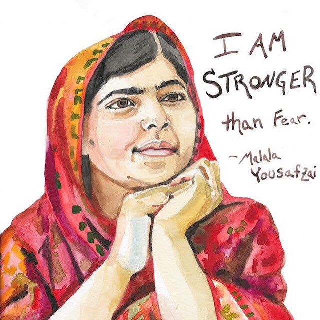 Women Empowerment - Malala Yousafzai - Empowering Women - Women in Support of Women - Gender equality - Equal access to education - girl power - feminism - powerful women - women power - i am stronger than fear