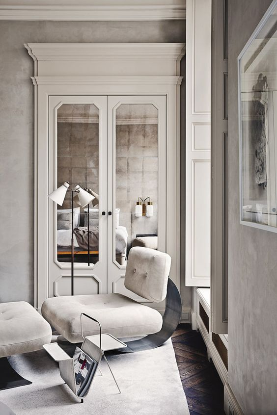 7 Things Interior Designers Will Instantly Know About You and Your Home - reading corning ideas - mirrored wall panels - interior design tips - Interior Design by Joseph Dirand, Photography by Simon Watson