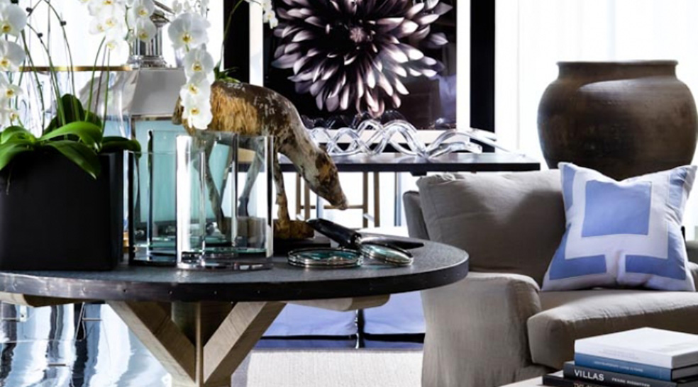 Top Design Stores Around Art Basel Miami Beach - blue - side table - miami design stores - michael dawkins - home furnishings