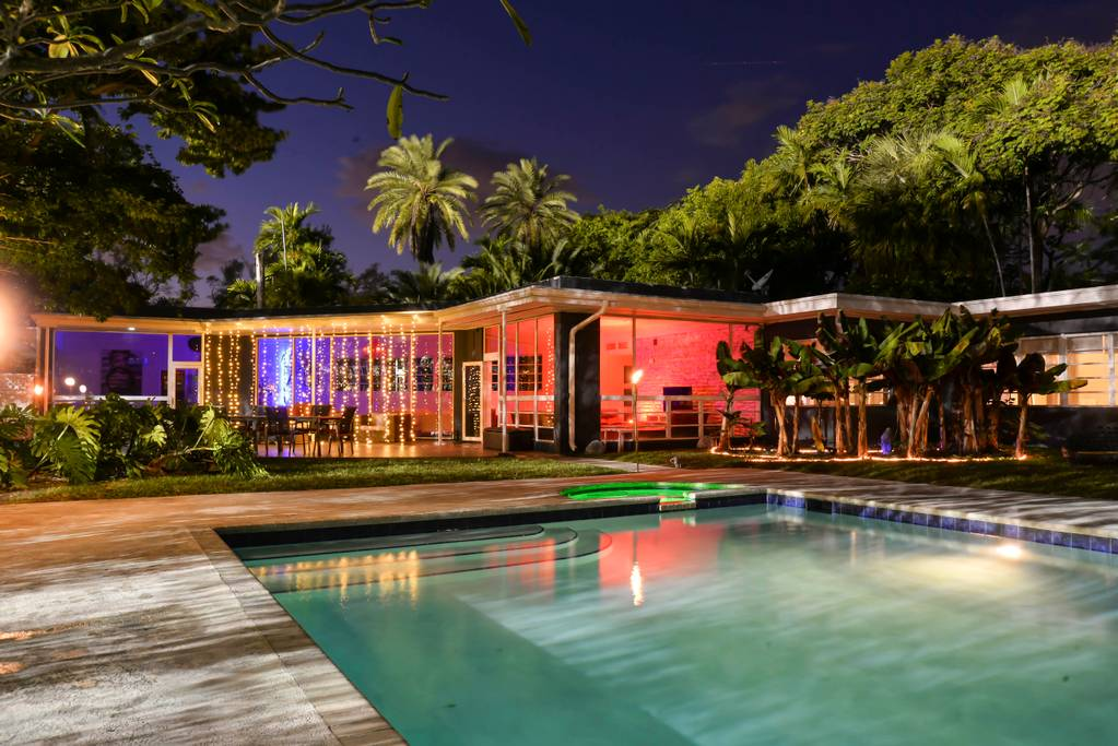 The Most Luxurious Places to Stay in Miami for Art Basel - Airbnb Miami Beach - Modern Design Huge Yard Waterfront Villa - vacation rentals miami beach - luxury furniture