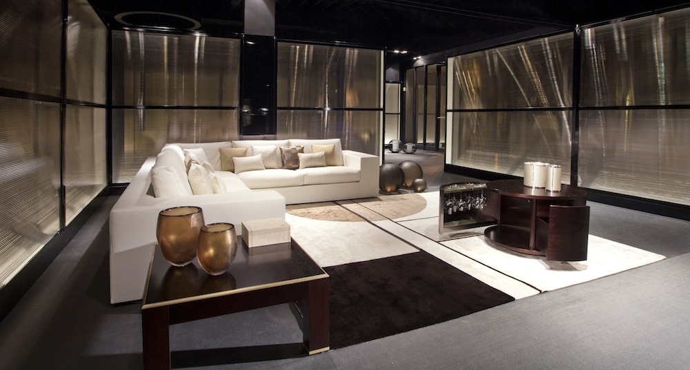 Top Design Stores Around Art Basel Miami Beach - armani casa - miami beach armani - designer interiors - brown interior design - dark colors - windowless design - miami showrooms