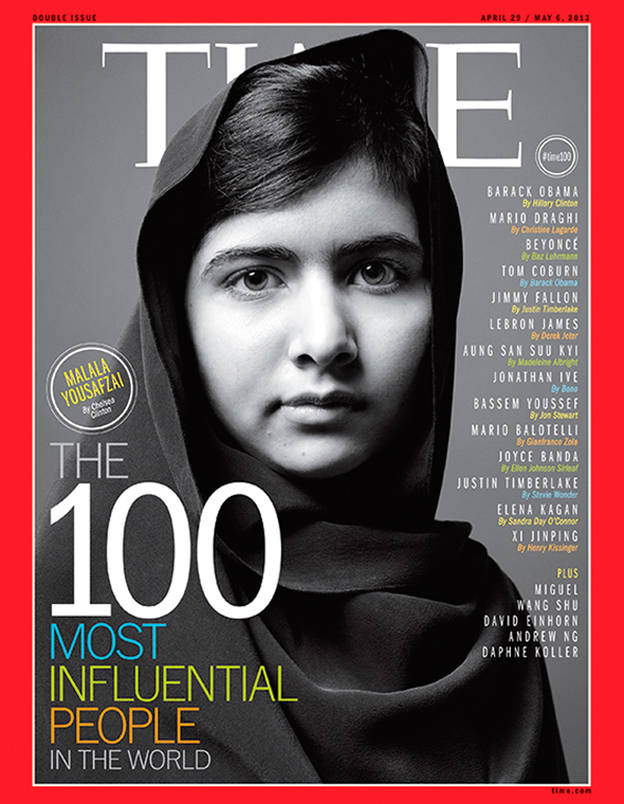 Women Empowerment - Malala Yousafzai - Empowering Women - Women in Support of Women - Gender equality - Equal access to education - girl power - feminism - powerful women - women power - time magazine cover