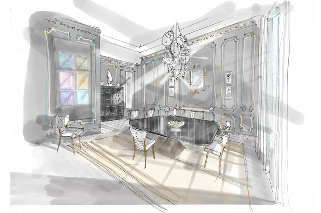 Rachel Laxer Interiors Holiday House London - Top interior designers in london - holiday house showhouse - co-chair - luxury furniture
