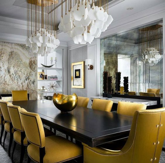 7 Things Interior Designers Will Instantly Know About You and Your Home - interior design ideas - dining room designs - luxury furniture - upholstered dining chairs - glamorous chandeliers