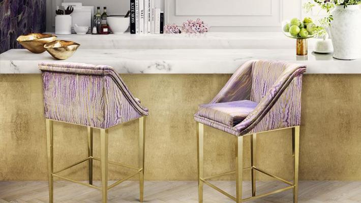 Geisha Bar Stool by KOKET at BDNY New York November 2017 Javits Center New York - bar stools - bar stools with backs - metal bar stools - bar designs - bar interior design