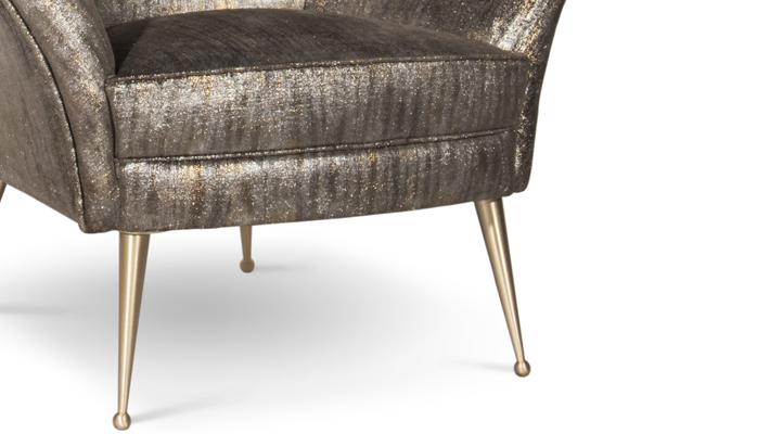 The Perfect Accent Chair by KOKET - Lounge Chair - Upholstered Chair - Bonnet Chair - Slipper Chair - Art Deco Chair - Curved Back Chair - Upholstered and Metal Chairs - Hollywood Glamour Chairs - Unique Chairs - Living Room Chairs - Bedroom Chairs - Dressing Room Chairs - Sitting Room Chairs