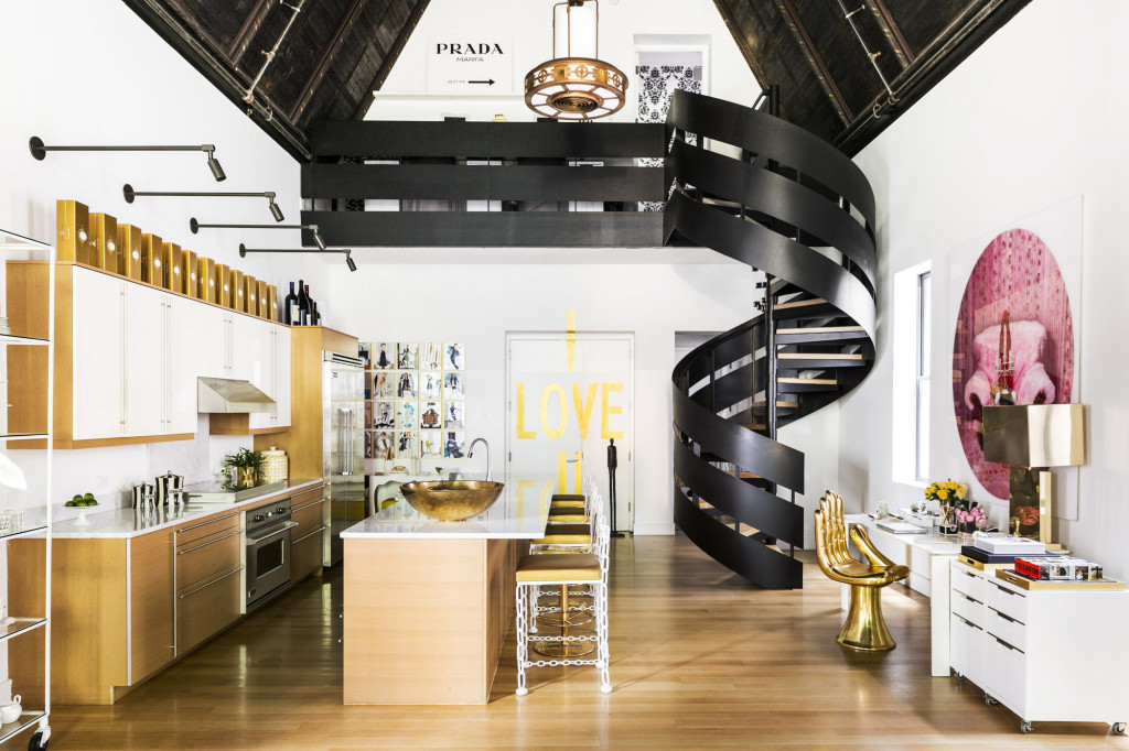 Lucinda Loya Interiors - Top Interior Designers Texas - former chapel in Gramercy - luxury furniture - chandelier modern - kitchen designs ideas - curved staircase designs - black metal staircases - holiday house showhouse