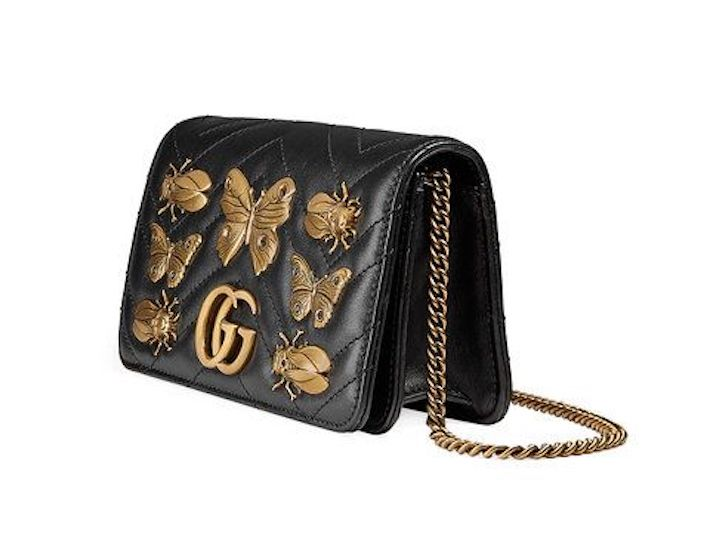 christmas gift guide - by koket - gucci handbag - gucci - black leather mini bag - gg marmont - gucci - designer handbag - luxury women - luxury gifts for women