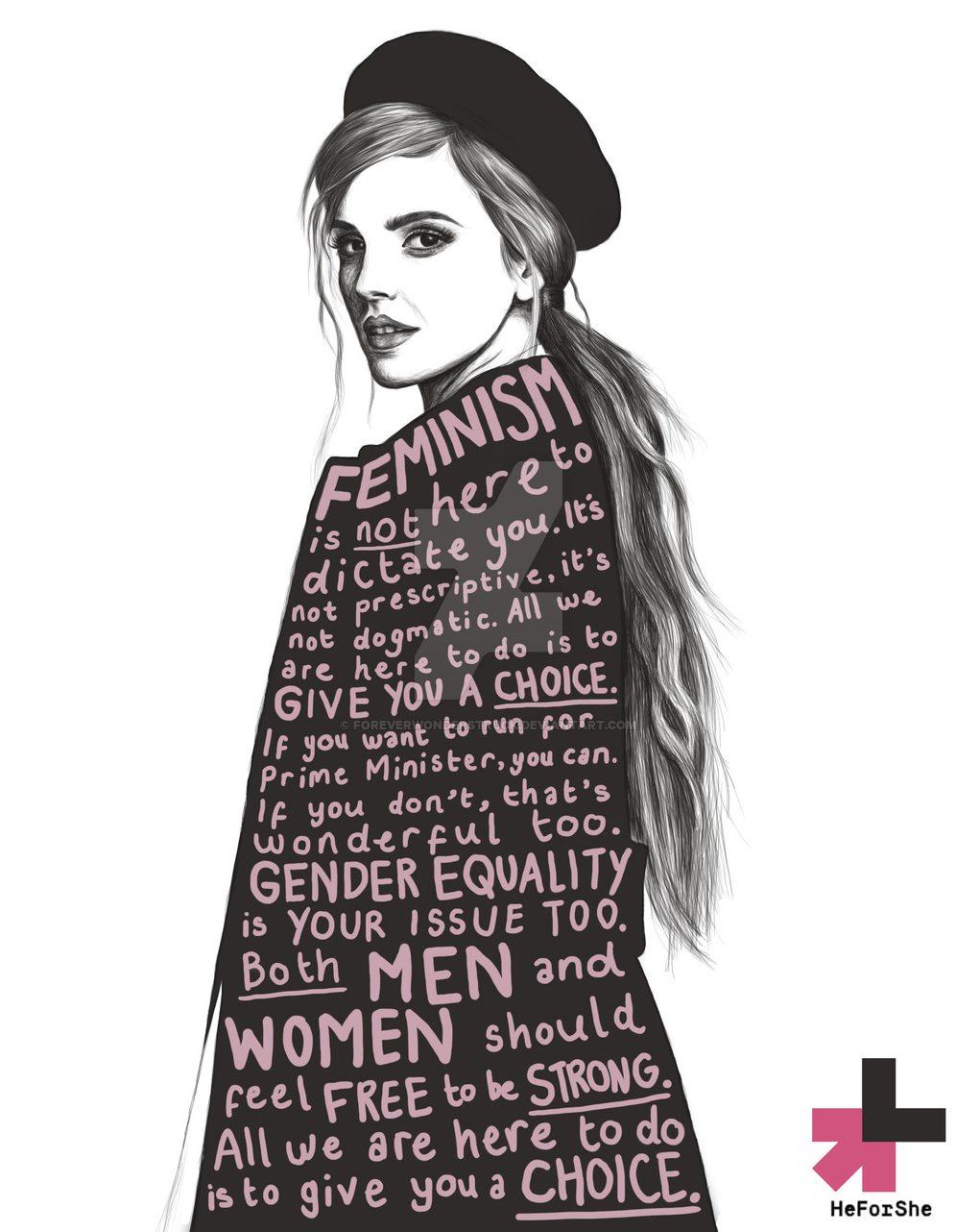 Women Empowering Women - Emma Watson - HeforShe Emma Watson Illustration by Foreverwonderstruck - women empowerment - feminism - famous feminists