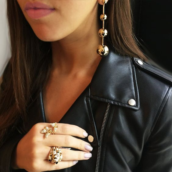 jmj - designer jewelry - gold accents - gold and black - gold jewelry - costume jewelry