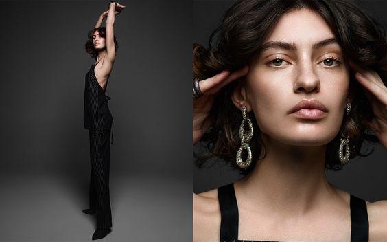 model - jmj - earrings - gold jewelry - gold costume jewelry - model - jewelry model