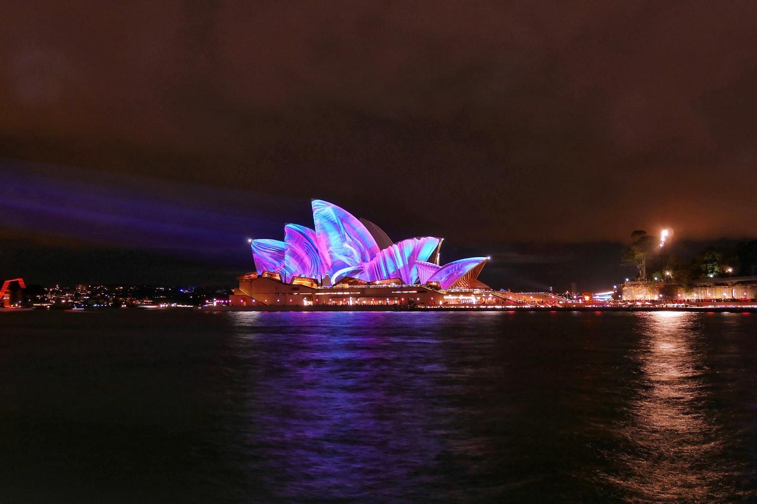 sydney - places to go for new year's eve - nye - sydney harbour - sydney opera house - nye celebrations - light show