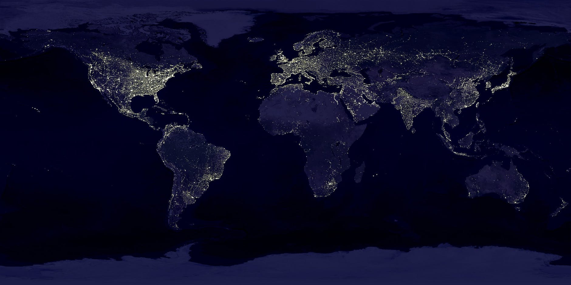 places to go for new year's eve - world light map - light - the world - new york - la - across the world in one night