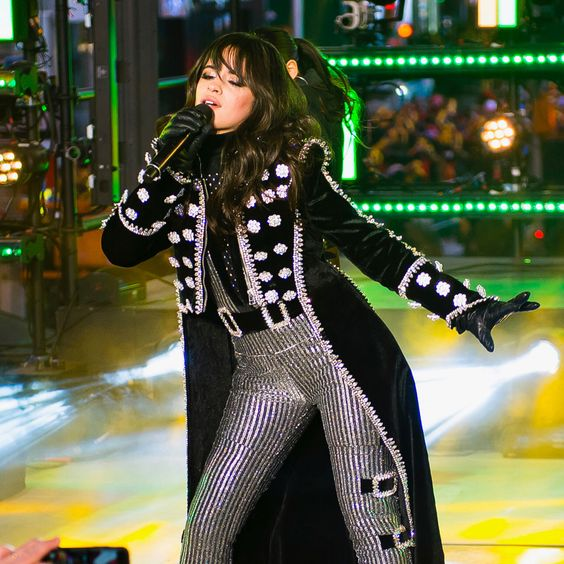 Camila Cabello performs New Years Eve 2017 - celebrity outfits new years eve