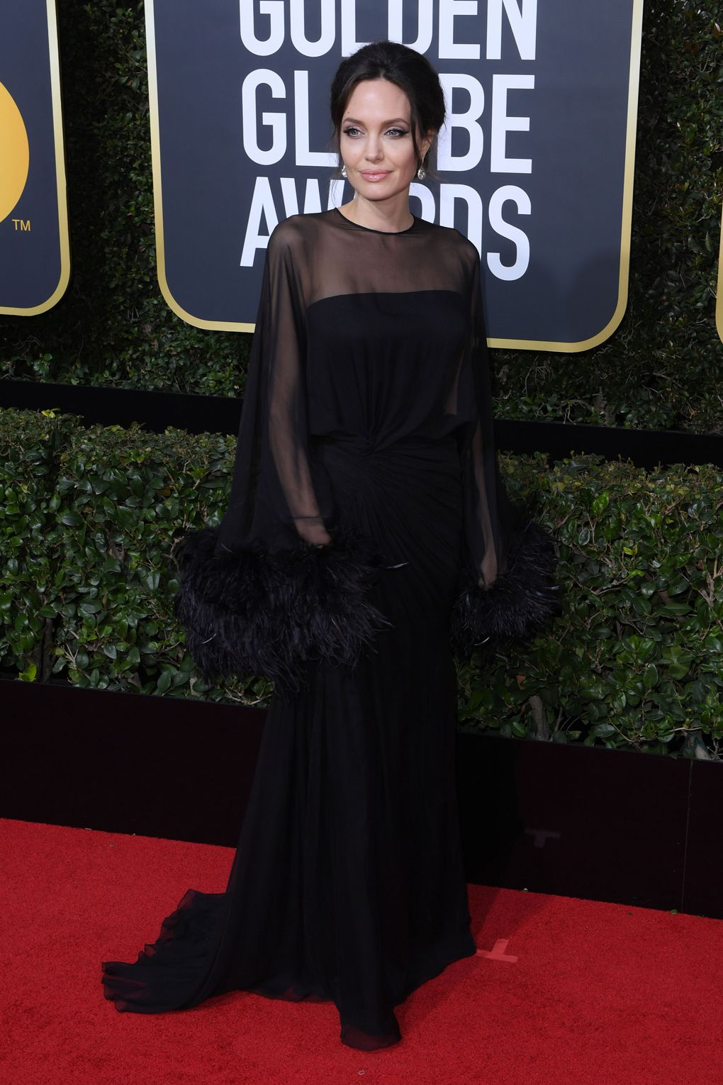 Angelina Jolie in Atelier Versace - Photo credit Rx/Shutterstock - women empowerment - black dresses golden globes 2018 - times up