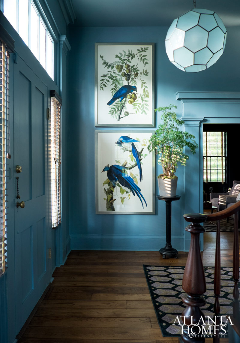 Decoration Ideas - Atlanta Homes Magazine Greek Revival Interior by Jimmy Stanton - Photo by Erica George Dines - blue entrys - blue entryways - blue foyers - interior design ideas