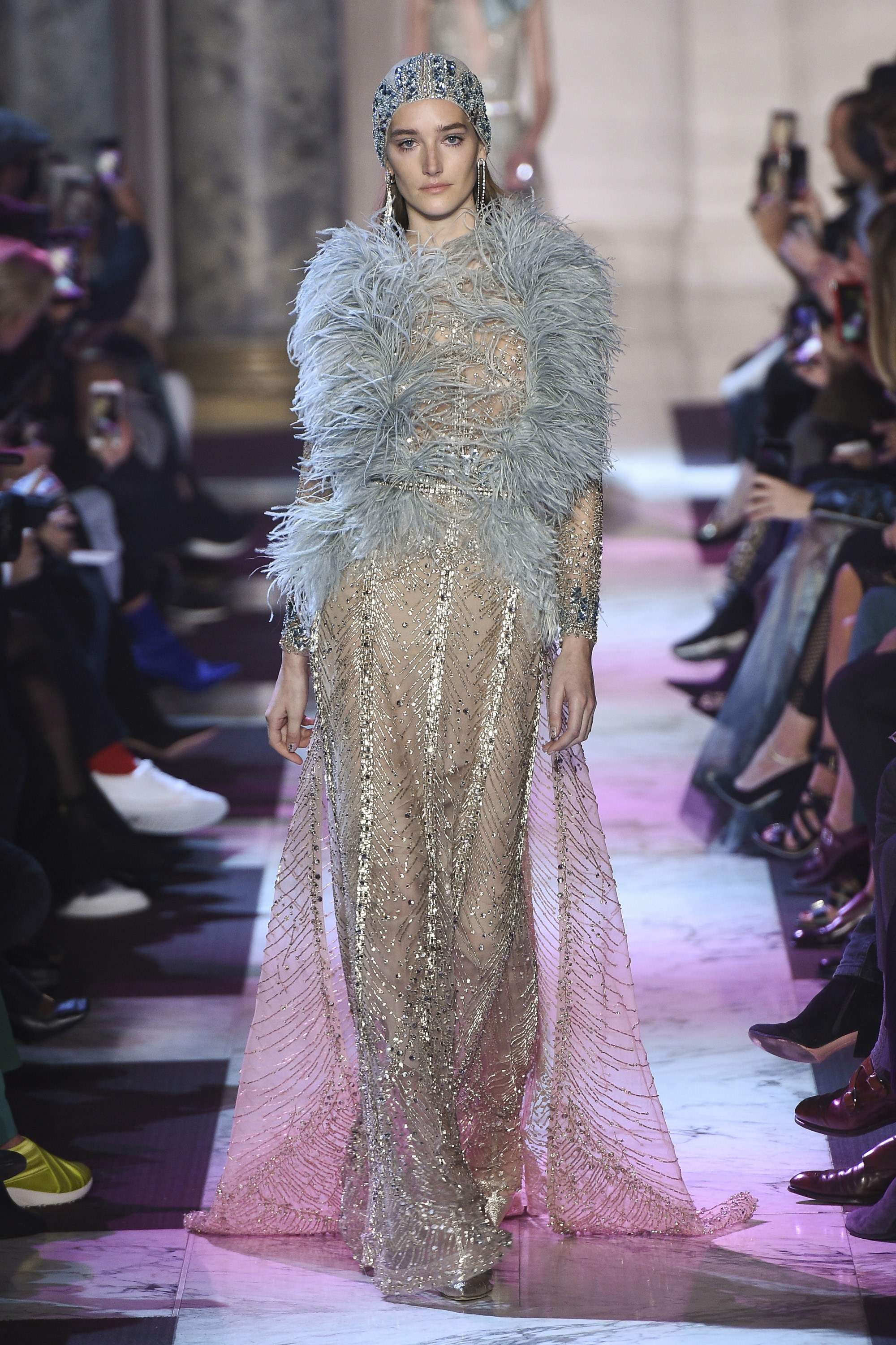 Haute Couture Paris Fashion Week Spring 2018 - Elie Saab - Photo - Kim WestonArnold - Indigital.tv - Model - Josephine Le Tutour