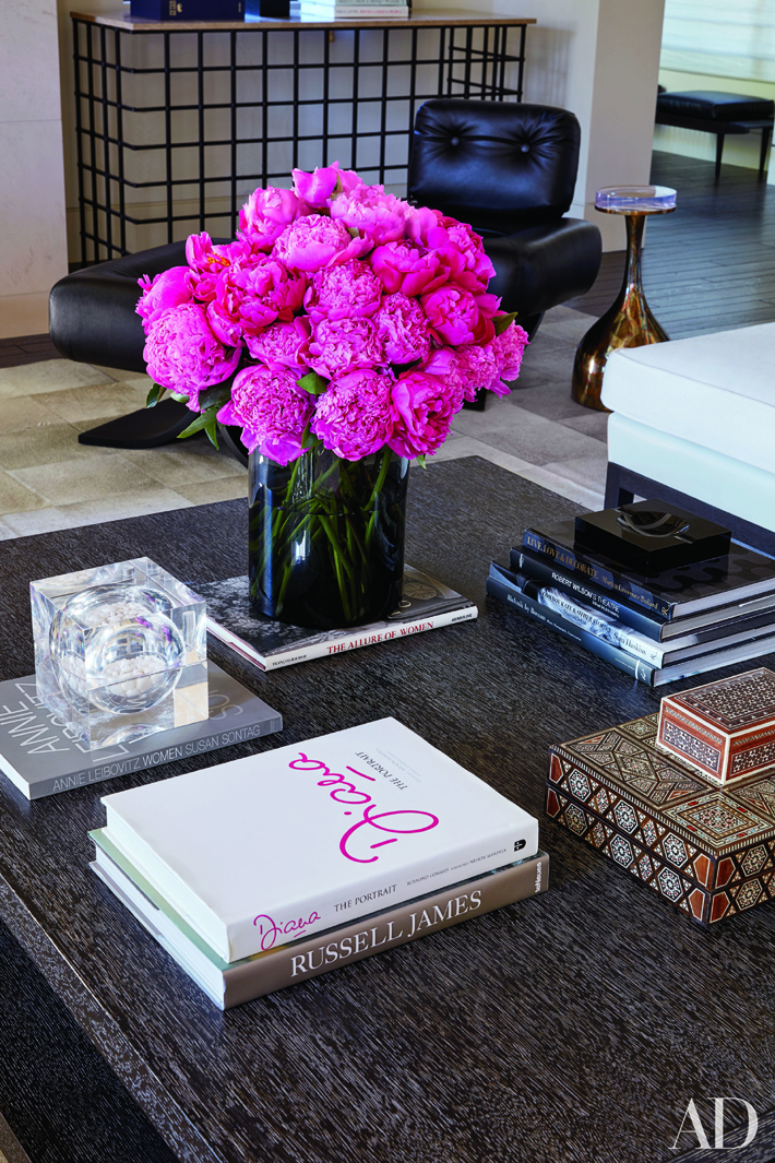 Decoration Ideas - Kourtney Kardashian's living room - Interior design by Martyn Lawrence Bullard - Photo by Roger Davies via Architectural Digest - how to style cocktail table - home styling tips - home styling ideas