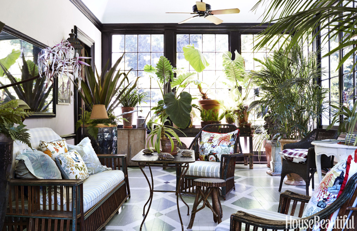 Decoration Ideas - Sun room by Michael Maher via House Beautiful - decorating with plants - sun room designs