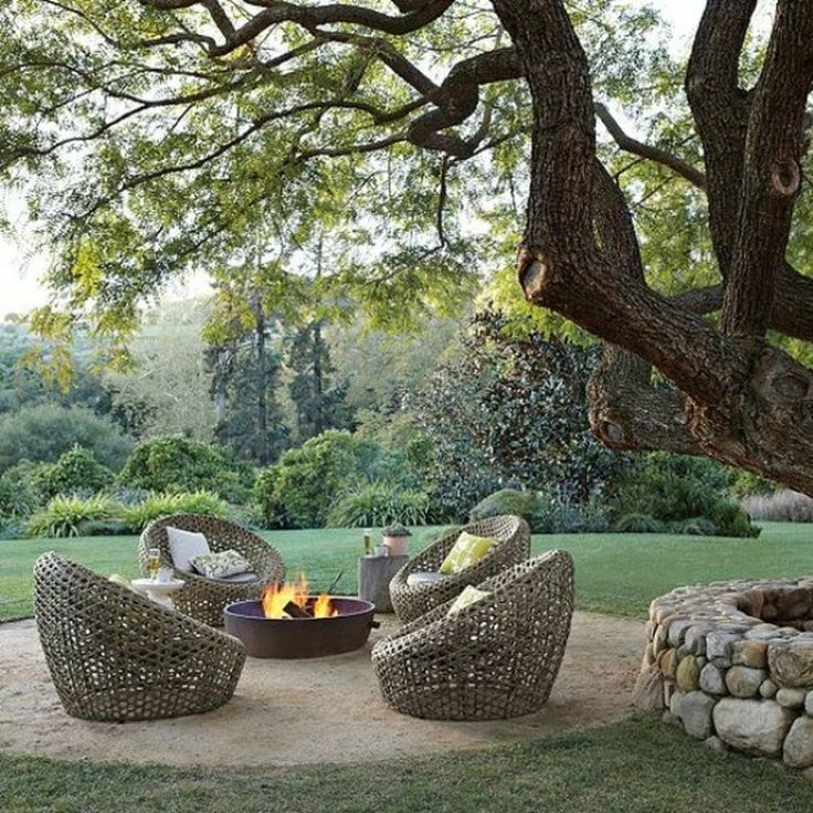 Outdoor Decoration ideas - Fire pits - outdoor styling - Photo via Pinterest - decoration ideas