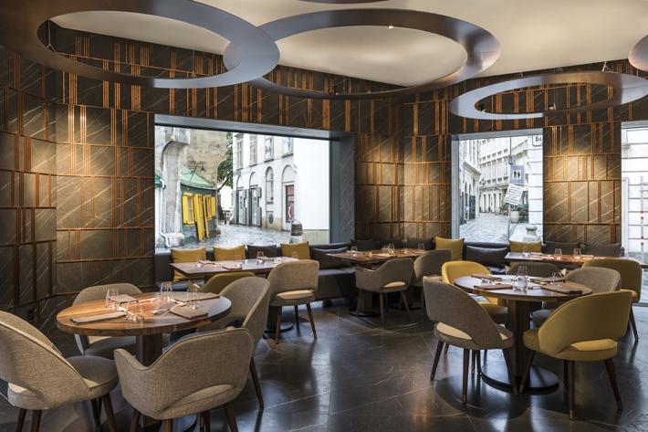 Ai Restaurant - Gatserelia Design - Vienna restaurants - top interior designers beirut - top restaurant designers - ad100 designers restaurant design Glowing Vienna Restaurant Design by Gatserelia 1