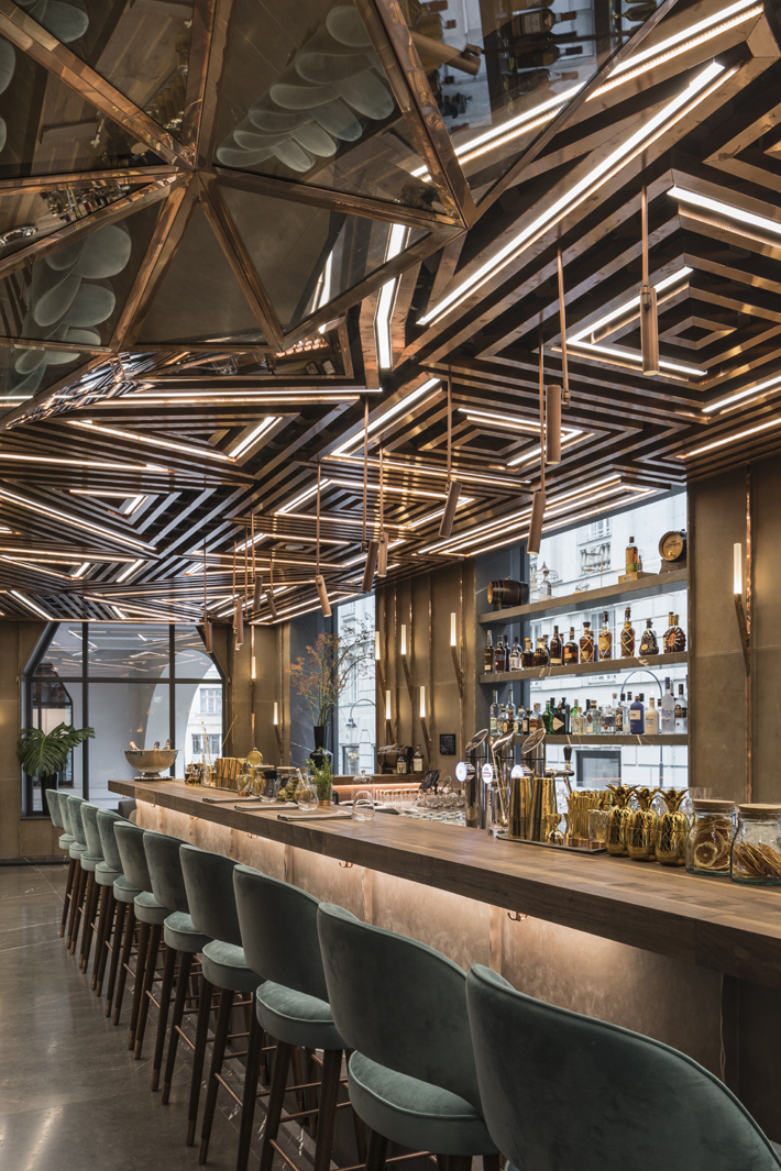 Glowing vienna restaurant design by gatserelia love