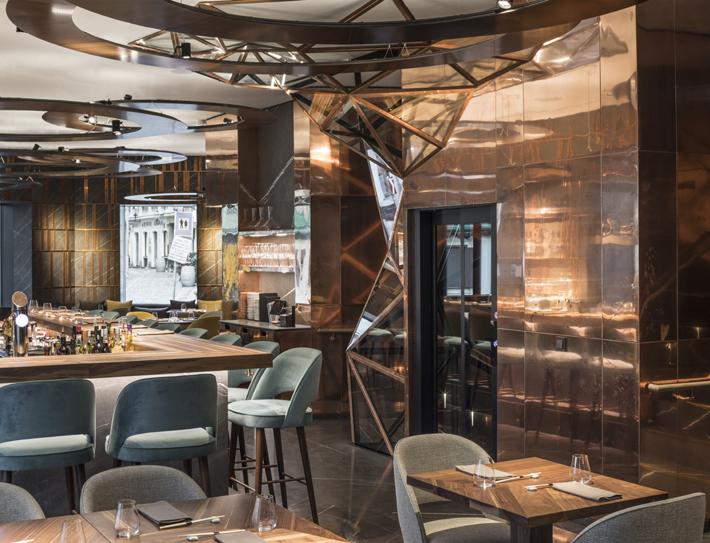 Ai Restaurant - Gatserelia Design - Vienna restaurants - top interior designers beirut - top restaurant designers - ad100 designers restaurant design Glowing Vienna Restaurant Design by Gatserelia 5