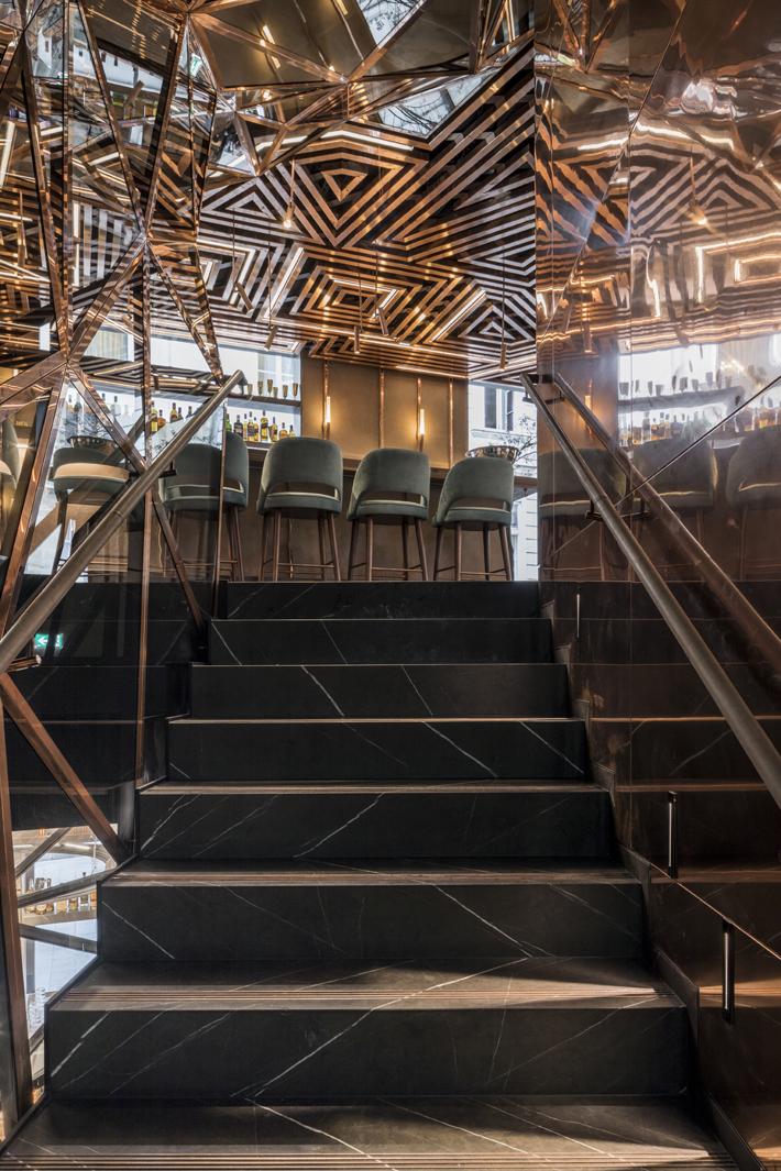 Ai Restaurant - Gatserelia Design - Vienna restaurants - top interior designers beirut - top restaurant designers - ad100 designers restaurant design Glowing Vienna Restaurant Design by Gatserelia 7