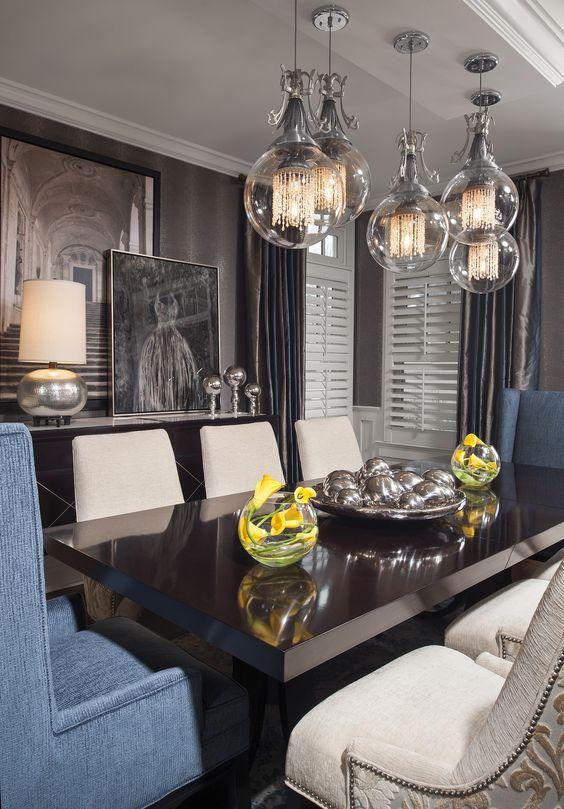Donna Mondi Interior Design - top interior designers chicago - dining rooms - glamorous dining room designs