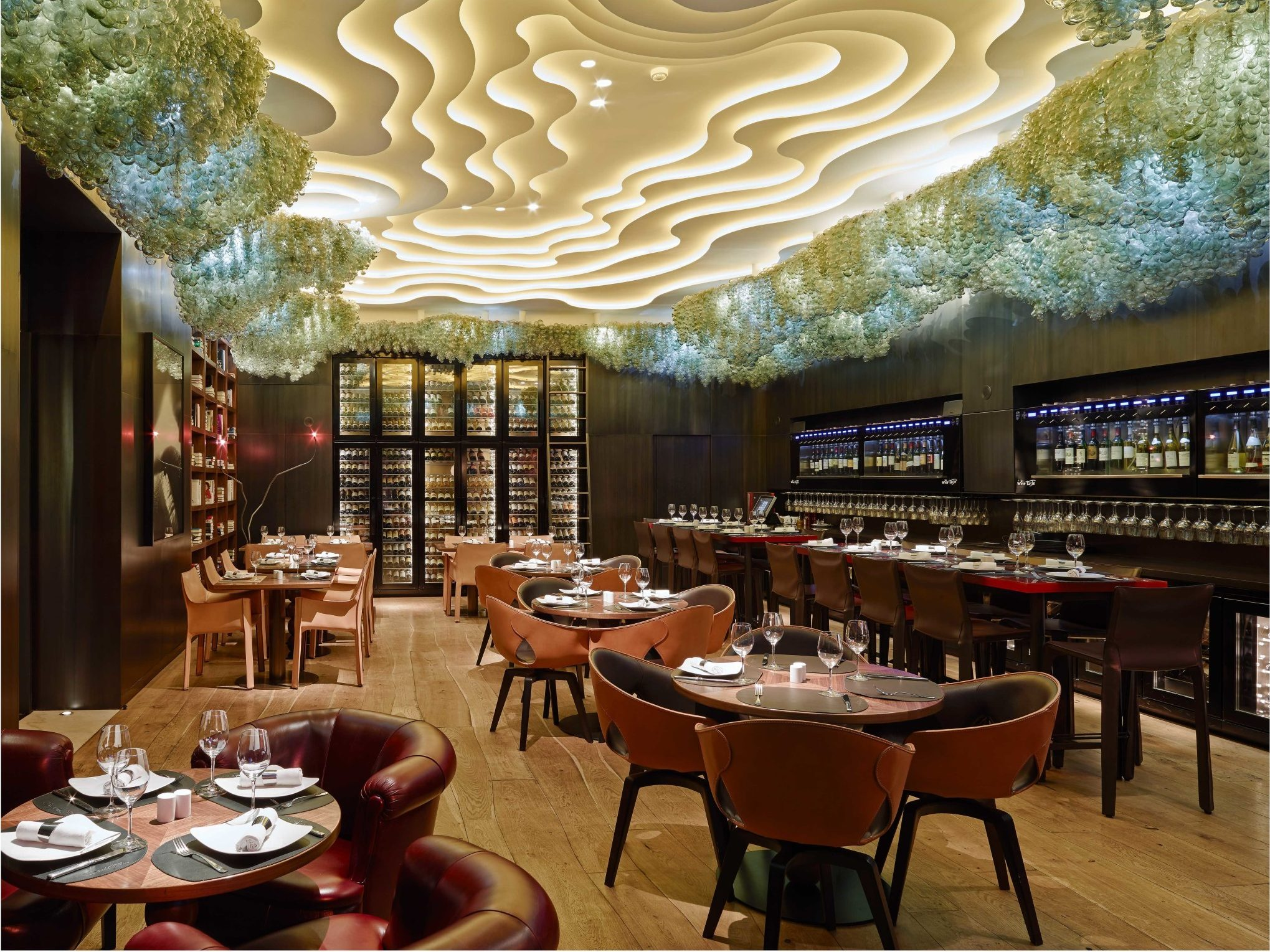 Gatserelia Design - Society Wine lounge Saifi Suites Downtown Beirut - top interior designers restaurant design Glowing Vienna Restaurant Design by Gatserelia Society Wine lounge Saifi SuitesvDowntown e1518232385749