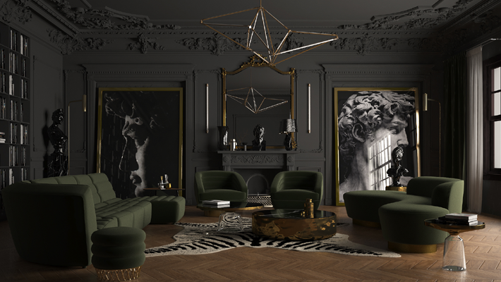 Tempted by Color - Gray Living Rooms - Ramzy Alaa - Top interior designers in egypt - up and coming egyptian interior designers - best interior designer in cairo - classical silhouettes - living room design ideas - luxury living space - interior design