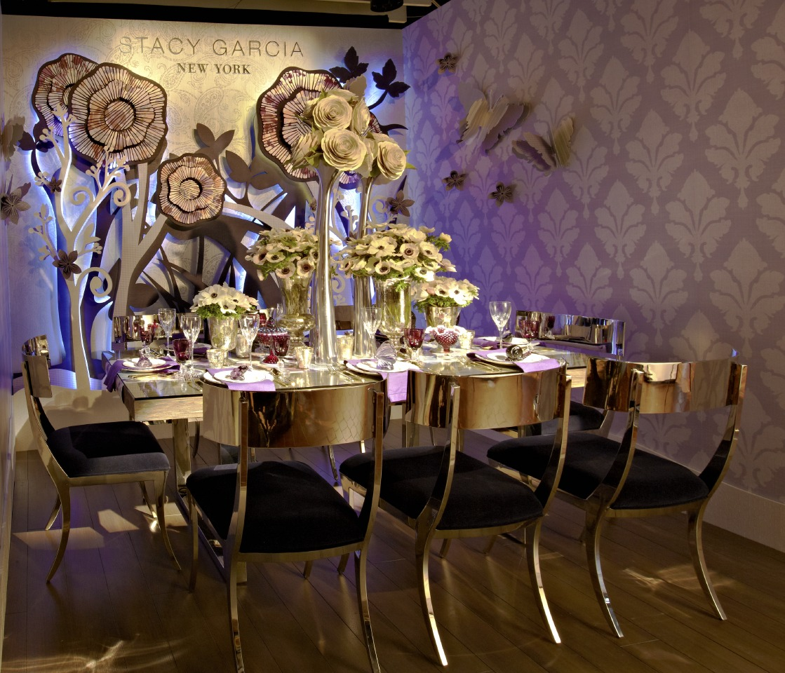 stacy Garcia's Table for DIFFA's Dining by Design at the Architectural Digest Design Show 2015. Photo by Timothy Bell - Image via dcoopmedia.com