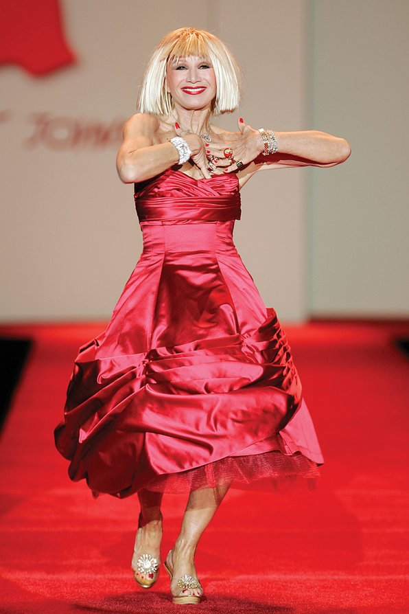 International Women's Day - 25 Legendary Women in Fashion - Betsey Johnson Red Dress Collection 2007 - Photo by The Heart Truth - women empowerment - empowering women