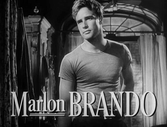 Marlon Brando in 'Streetcar named Desire' trailer - history of t-shirts