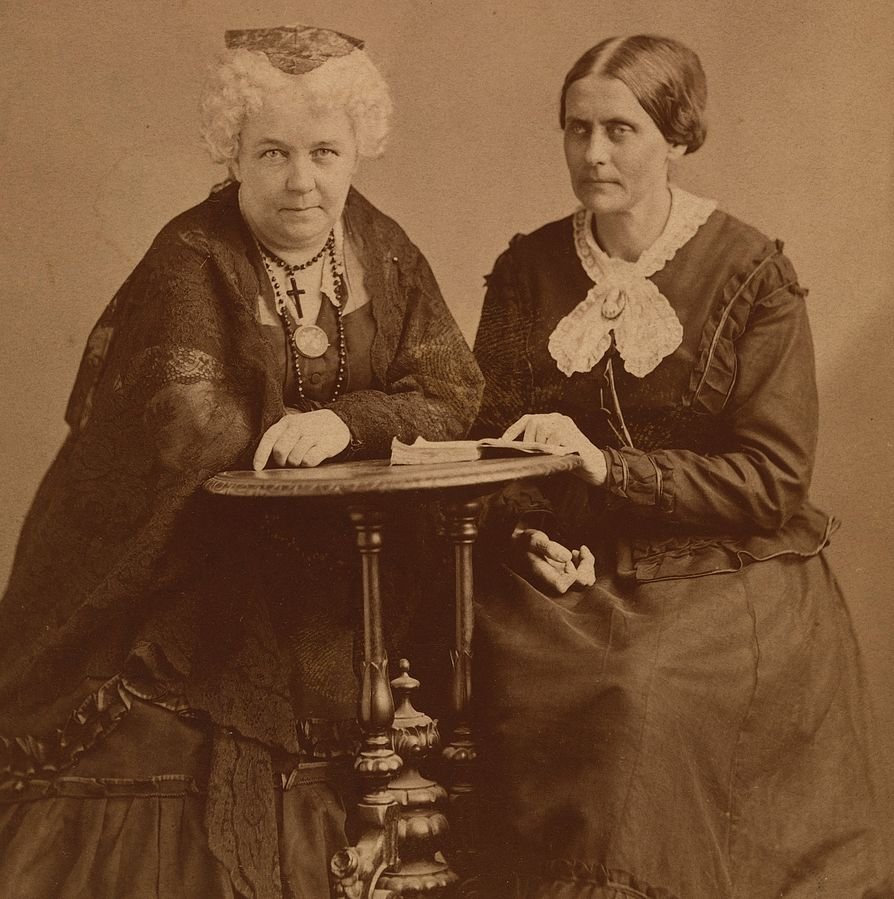 Elizabeth Cady Stanton and Susan B. Anthony - Women's History Month - Women Empowerment - empowering women in history