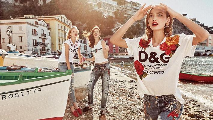 dolce gabbana summer 2017 ad campaign - slogan t-shirts