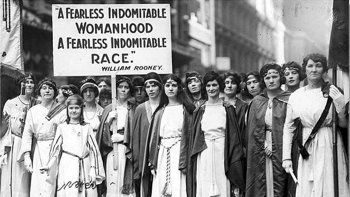 Women's History Month 2018 - Women Empowerment - Source: The New York Times photo archive. Photo by Paul Thompson - Empowering women in history - women activists - feminists - suffragettes