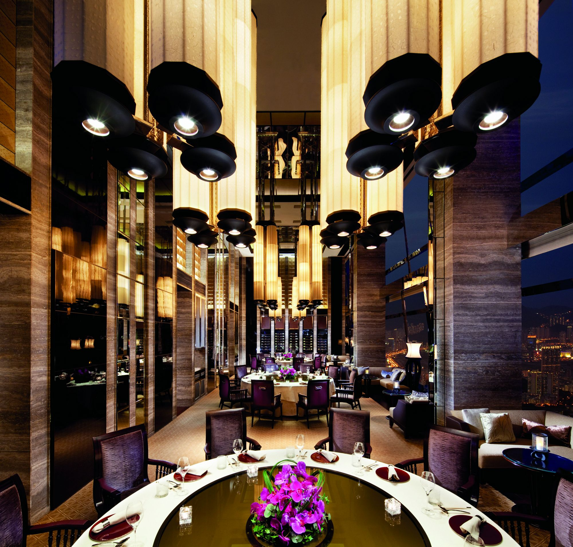 best restaurants in hong kong - tin lung heen restaurant ritz carlton hong kong - art basel hong kong - beautiful restaurants hong kong best restaurants in hong kong 10 Best Restaurants in Hong Kong for Great Design & Delicious Victuals tin lung heen restaurant ritz carlton hong kong