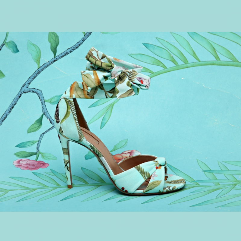 Aquazzura for De Gournay - Italian Shoe Brands We Love - made in italy - italian shoes - luxury shoes - italian shoe designers - Edgardo Osorio