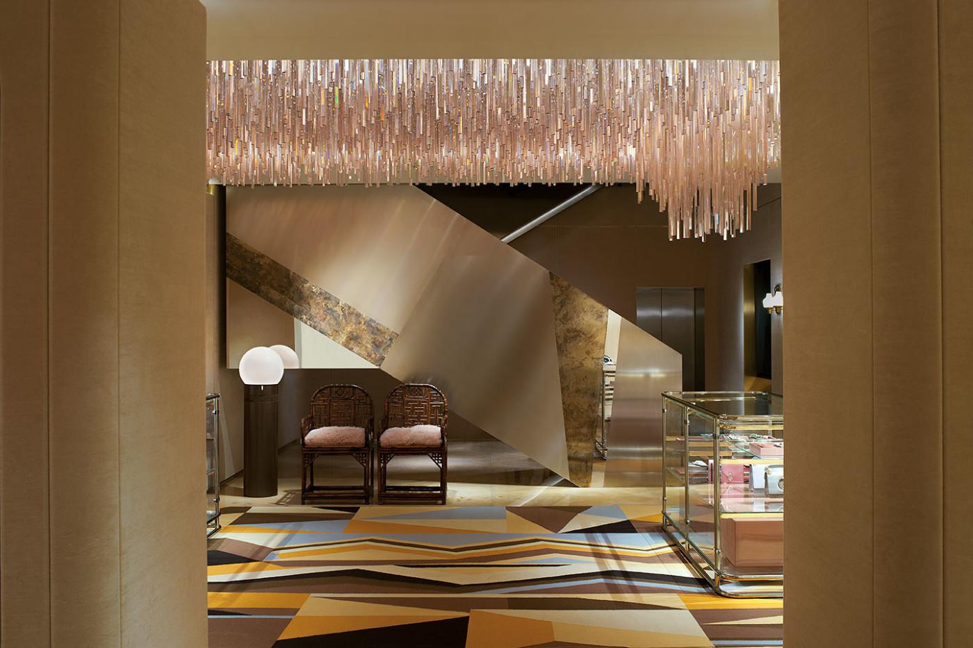 DIMORESTUDIO_FENDI-Sloane-Street-London_Photo by Andrea Ferrari - top interior designers in milan - best interior designers in italy - famous italian interior designers - luxury furniture - milan design week 2018