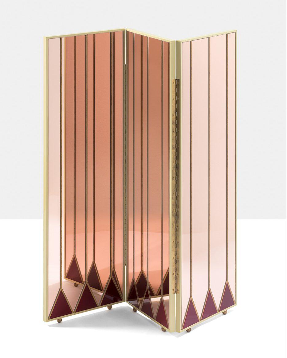 PARAVENTO Floorscreen. Photo by Simone Fiorini via DIMORESTUDIO - luxury italian home decor - art deco floor screens - dimorestudio accessories - dimore studio furniture - milan design week 2018