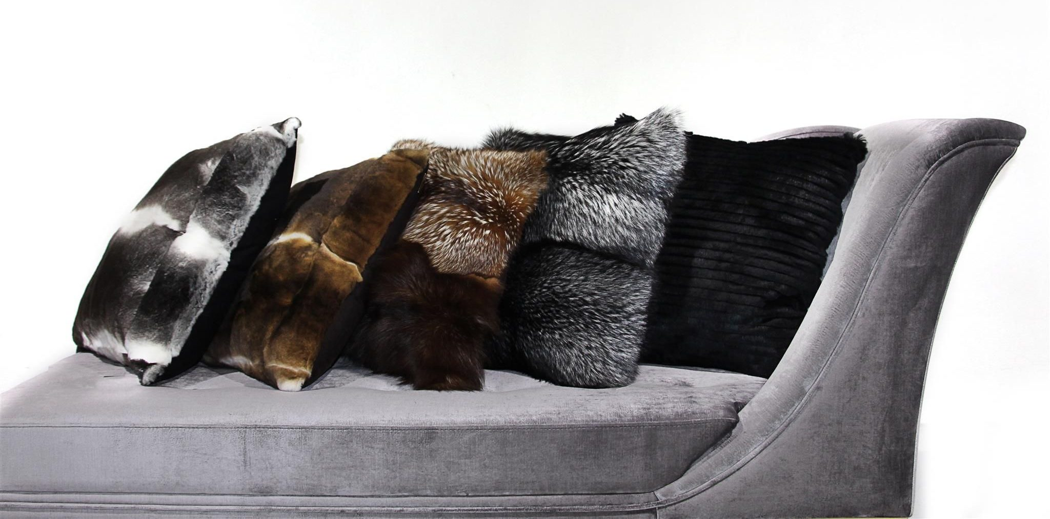Woman Cave Design Ideas - DeMorais International Fur Pillows