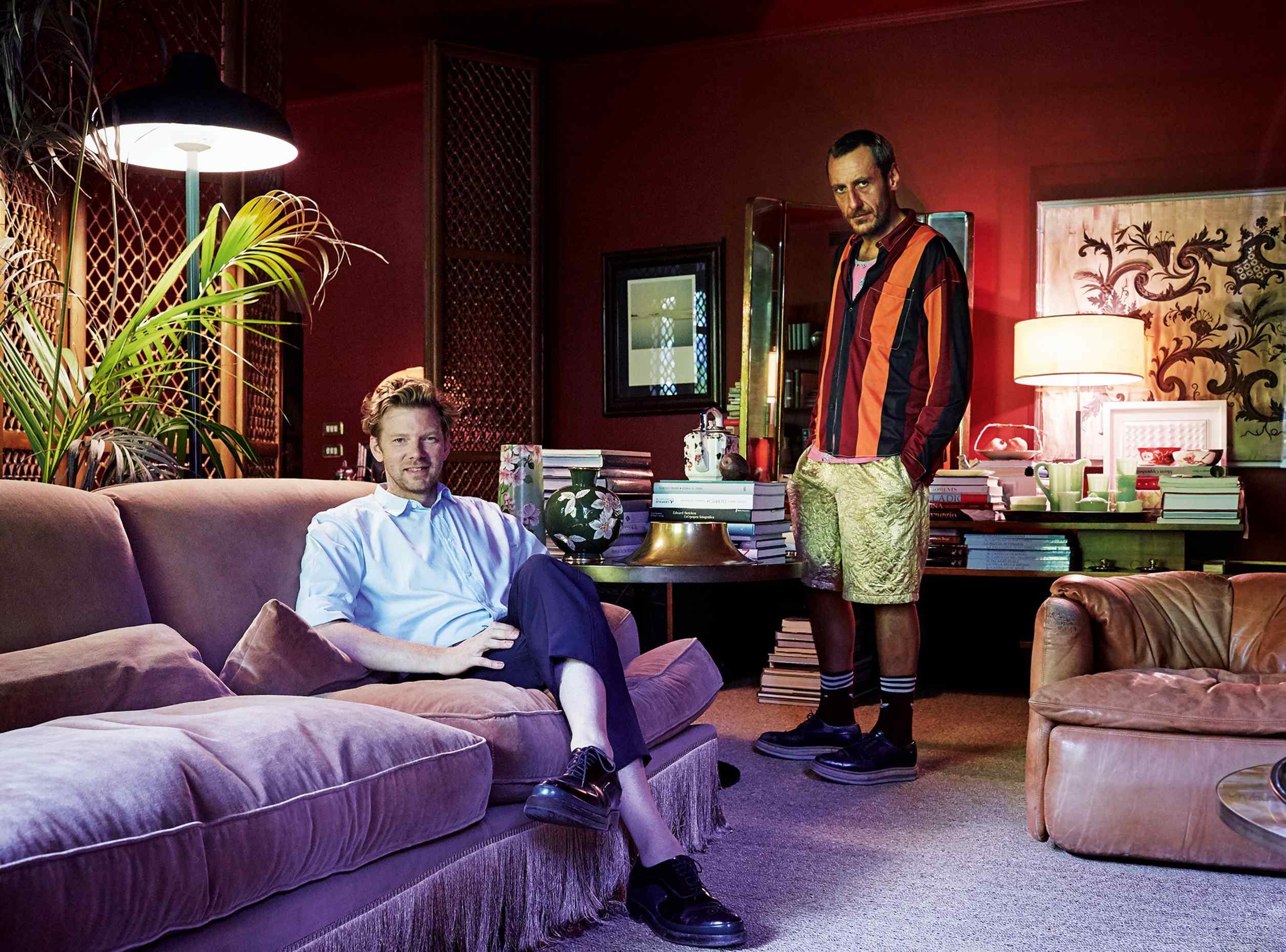 DimoreStudio's Britt Moran (left) and Emiliano Salci at home in Milan - Photo by Mattia Zoppellaro - milan design week 2018 - best interior designer in milan - top interior designers in italy - italian furniture - luxury furniture
