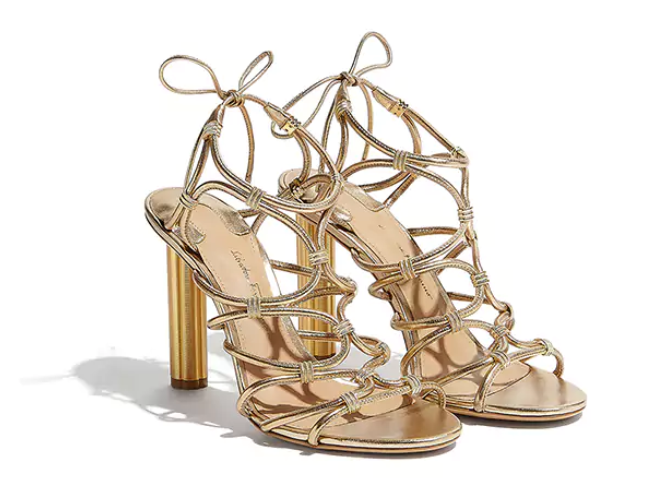 Salvatore Ferragamo - Flower Heel Sandal - Italian Shoe Brands We Love - made in italy - italian shoes - luxury shoes - famous italian shoe designers - shoemaker to the stars - shoe art