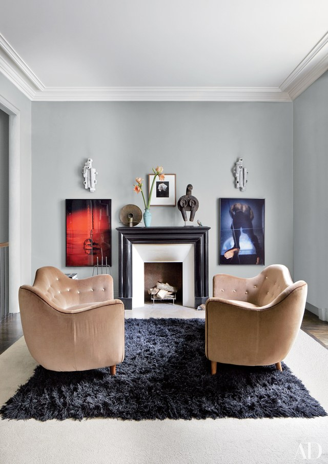 layering rugs - Stefano Pilati's Paris Apartment. Photo by Bjorn Wallander via AD - living room design ideas