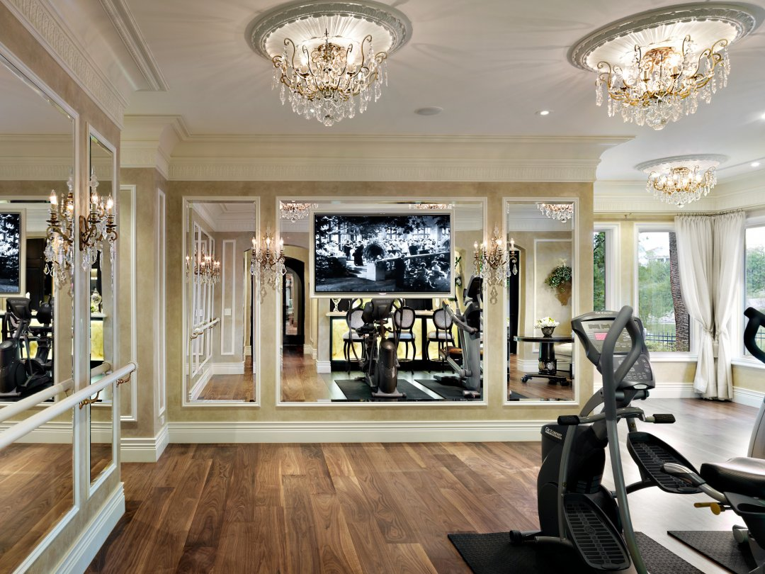 Woman Cave Design Ideas - Tara Dudley Interiors via Houzz - home gym design ideas - home gyms - glamorous gyms
