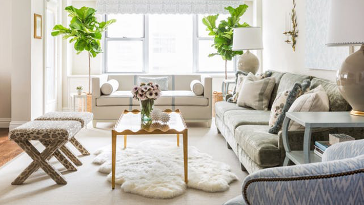 The Art of Layering rugs - Interior by Tharon Anderson. Image via Elle Decor, Photo by Lesley Unruh - best of 2018