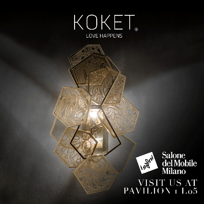 koket love happens magazine - high point furniture market - salone del mobile milano 2018 - high point market spring 2018 - isaloni 2018 - unique sconces - unique lighting - luxury lighting