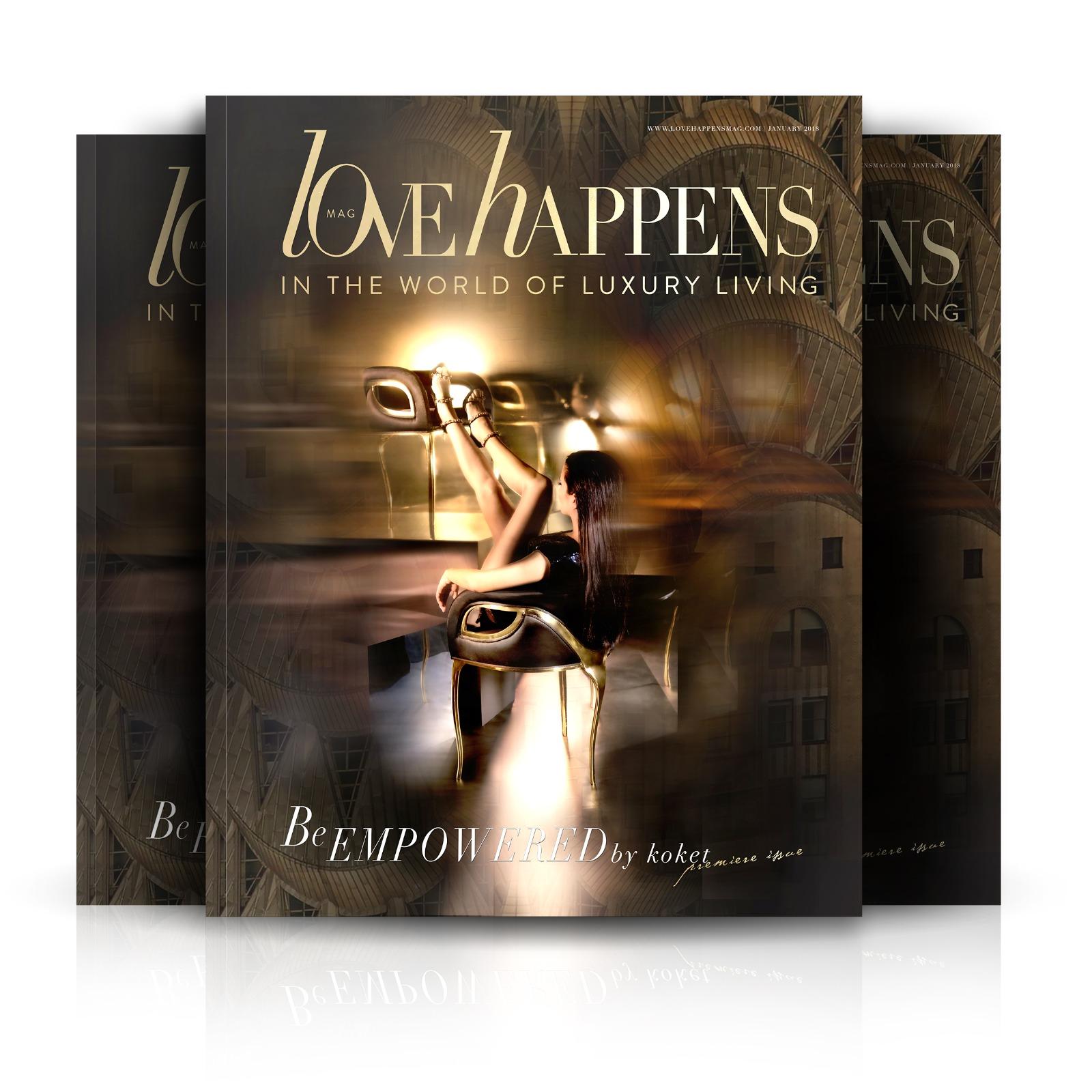 love happens magazine vol 1 - love happens premier issue - love happens mag - koket magazine - luxury lifestyle magazines - interior design magazines - fashion magazines
