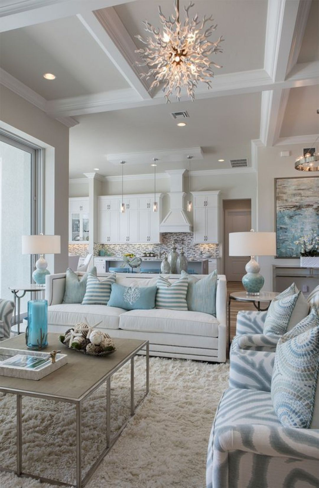 luxury seaside homes - luxury coastal homes - interior design by robb and stucky - living-room-decorating-ideas